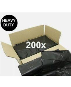 200 Super Heavy Duty Black Refuse Sacks Bin Bags 160 Gauge