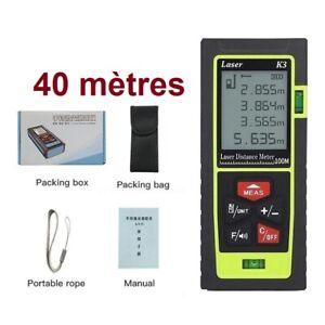 Télémètre 40m laser numérique Distance Surface Volume LIVRAISON GRATUITE FRANCE