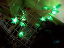 "string of 10 2"" green star lights"