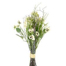Artificial Silk Flowers Pansy Spring Bundle 36cm