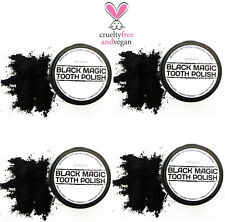 4 X ACTIVATED CHARCOAL POWDER TOOTH POLISH * PHARMACEUTICAL GRADE TOOTH CLEANER