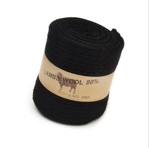 3 Pairs Lady 80% Lamb Wool Cashmere Winter Warm Long Knee High Dress Socks 5-8