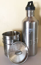 STAINLESS STEEL CANTEEN CUP WITH VENTED LID & SMART SOURCE WATER BOTTLE 40oz.