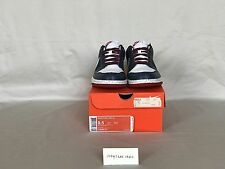"""2008 Nike Dunk Low CL """"Euro Champs, France"""", Midnight Navy/White, Size US 9.5"""
