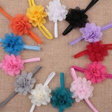 10Pcs Baby Girl Elastic Hairband Chiffon Infant Flower Headbands Hair Band