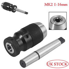 Self Tighten Keyless Drilling Lathes Chuck MT2 -B18 Arbor 1-16mm for Lathe MK2