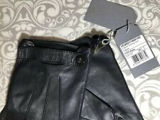 Mulberry Mens 100%  Nappa Leather Black Driving Gloves Size 8.5 Brand New