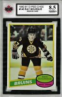 1980-81 OPC #140 Ray Rourque RC Graded 8.5 NMM+ (*050819-64)