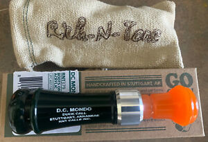 RNT Rich-N-Tone MONDO Custom 'Boots On' Acrylic Mallard Green & Orange Duck Call