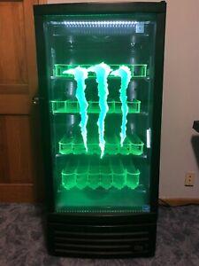 Monster Energy fridge with dynamic LED lighting