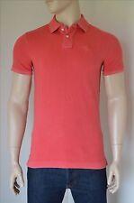 Nueva Abercrombie & Fitch Camisa Polo Clásico gran icono logotipo en rojo lavado Alce S