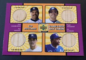 2001 UD Decade of the 70's Chambliss/Jackson/White/McRae Quad Bat NY Yankees