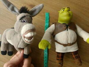 Shrek Ogre And Donkey 2004 Dreamworks Plush Toy Key Ring Attachment