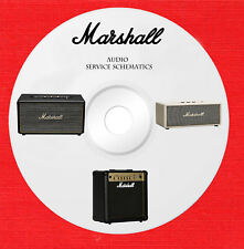 Marshall Audio Repair Service owner manuals on 1 dvd in pdf format