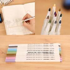 10Pcs Color Metallic Fine Pen Pencil Marker Album DIY Dauber Pen Set Waterproof