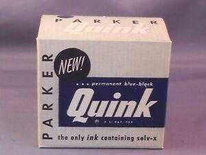 Parker Vintage Quink Bottle Ink---Permanent Blue-Black-for Parker 51 pens-NOS