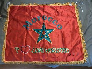 BadrHari Morocco  FLAG !I Love Morocco Brand New You Can Use As A Flag Or Scarf!