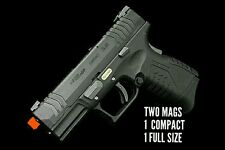 WE-TECH green gas blowback XDM 3.8 C full metal airsoft pistol gun with 2 mags