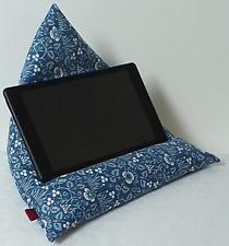 Cushion support for tablets, phones etc. in William Morris design.