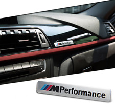 M Performance Métal Autocollant Voiture Argent Métal 3D Emblème Voiture Accessoire Neuf