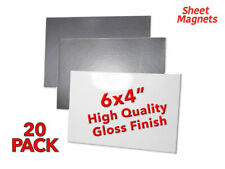 """20 PACK   6"""" x 4"""" (150mm x 100mm) Magnetic Photo   WHITE GLOSS   Magnetic Paper"""
