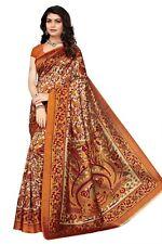 Orange kalmakari Mysore Silk Saree, Sari, Bollywood, salwar kurta indien kameez
