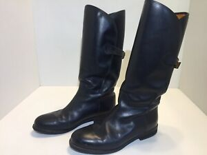 Timberland Women's Black Leather Back Buckle Riding Boots Size 8