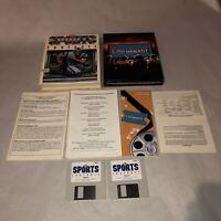UNTESTED Commodore Amiga Game TV SPORTS FOOTBALL Complete CIB VG Condition