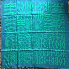New ISSA silk twill scarf, turquoise, hand rolled hems