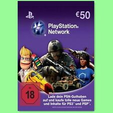 PSN Playstation Network Card 50€ 50 Euro Prepaid Key PS4 PS3 PSP DE