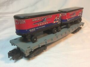 AMERICAN FLYER S GAUGE 24550 Monon Flat Car with Trailers