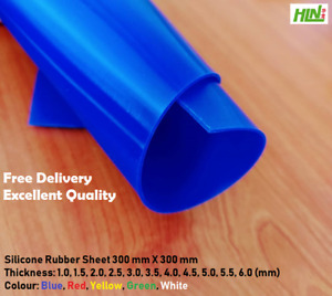300 mm X 300 mm Silicone Rubber Sheet with Variation of Colours and Thickness