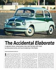 1956 Fiat 600 Original Car Review Report Print Article J873