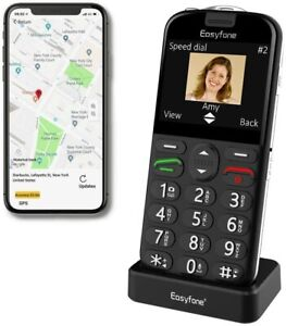 📲 Easyfone Prime A4 2G/3G GPS Unlocked AT&T Senior Flip Cell Phone Big Button