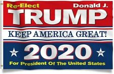 """Re-Elect Donald Trump for 2020 USA President Keep America Great Flag 60"""" x 36"""""""