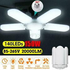 20000LM 5+1 Blades Deformable E27 LED Garage Light Adjustable Shop Ceiling Lamp