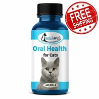Oral Health for Cats Dental Treatment All Natural Tartar Plaque Remedy 450 Pills