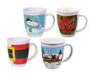 New Royal Norfolk Christmas Holiday Gift-Boxed Ceramic Coffee Mug, 14 oz.