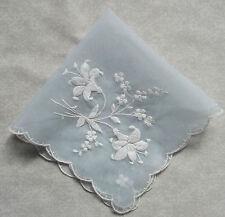 Vintage Handkerchief MENS Hankie Top Pocket Square FLORAL