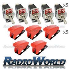 5x cubierta de misiles alternar Película Interruptor 12V Encendido/Apagado Auto Dash Luz Metal SPST
