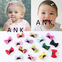 2/8 pcs Girls Hair Clips Baby Kids Hair Pin Ribbon Bow Hair Accessories for Gift