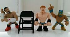 WWE Set of 4 Sheamus, CM Punk, Sin Cara Rumblers & 1 Chair (New No Tags or Box)
