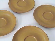 4 Denby Pottery England Coffee Mug Tea Cup Saucers Eames Era Modern Ode