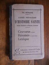 L'année préparatoire d'Histoire Sainte de Th. Bénard - 1937
