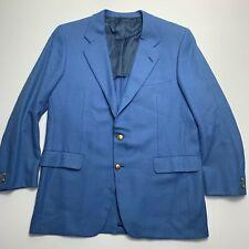 Vintage Hickey Freeman 42R Bright Blue Wool & Mohair Sport Coat Blazer