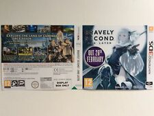 Nintendo 3ds Bravely Second End Layer   Cover Only Sleeve Inlay Promo