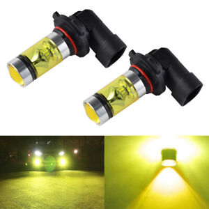 Pair HB4 LED Front Fog Light Lamps for Seat Alhambra Mpv 2010-2014 4300K Yellow