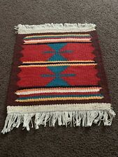HAND WOVEN VINTAGE XORAZM BEAUTIFUL UZBEK BEAUTIFUL WOOLEN SMALL RUG CARPET