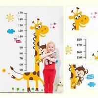 Giraffe Wall Sticker Decal Removable Baby Kids Child Height Chart Measure Decor
