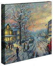 "CHRISTMAS STORY - Thomas Kinkade 14"" x 14"" Gallery Wrap Canvas"